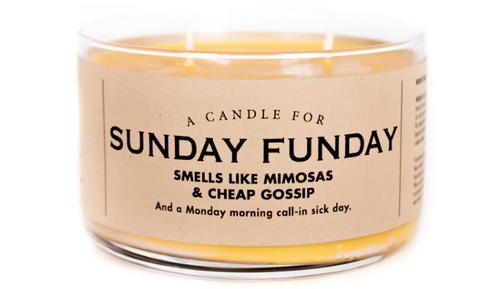 "Sunday Funday Candle ""Smells like mimosas & cheap gossip"""