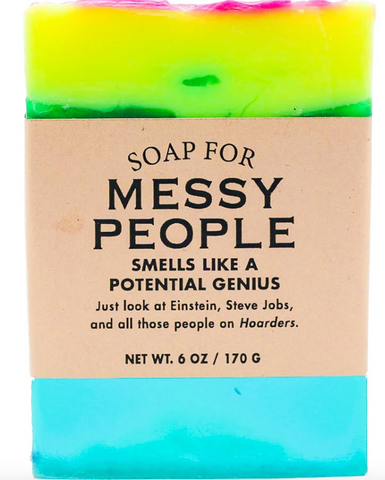 "Messy People Soap ""Smells like a potential genius"""