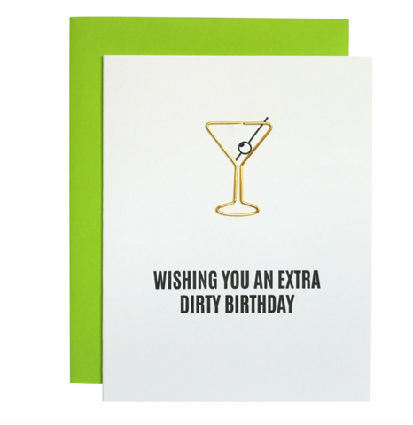 """Wishing you an extra dirty birthday"" Greeting Card"