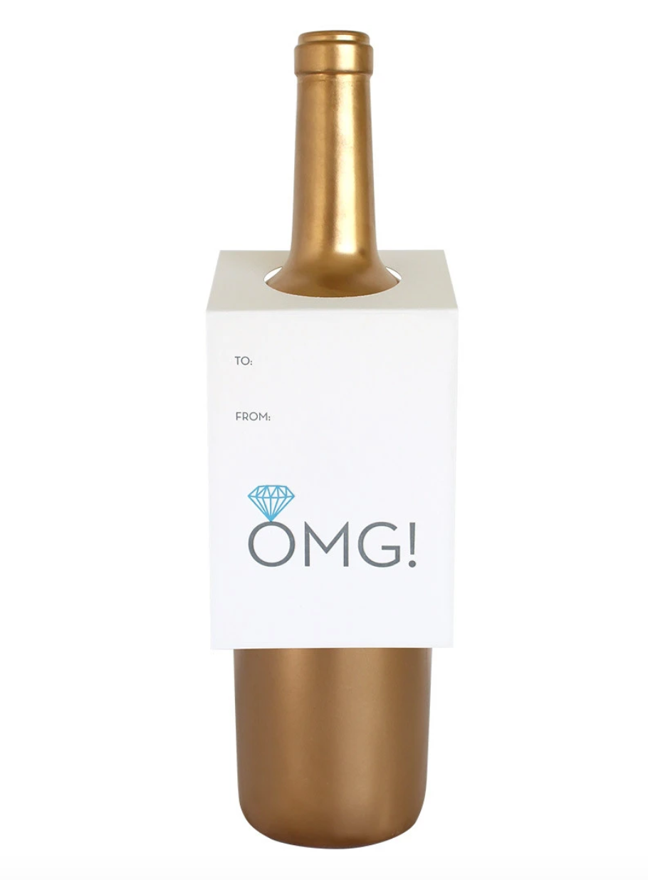 OMG with Engagement Ring Wine & Spirits Tag