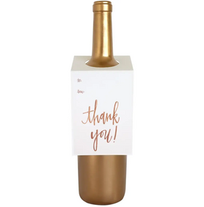 """Thank you!"" Wine & Gift Tag"