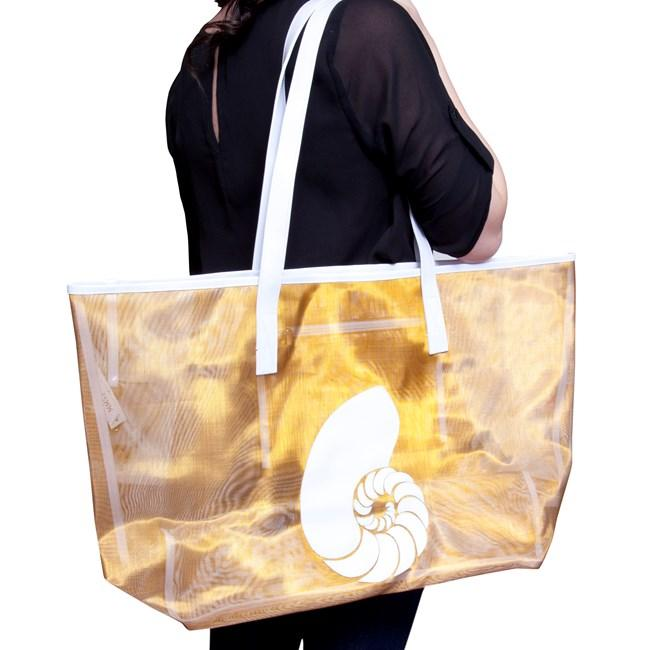 White Mesh Madison Tote with 3 Buoys