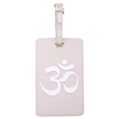 Luggage tag in blush with white OM symbol