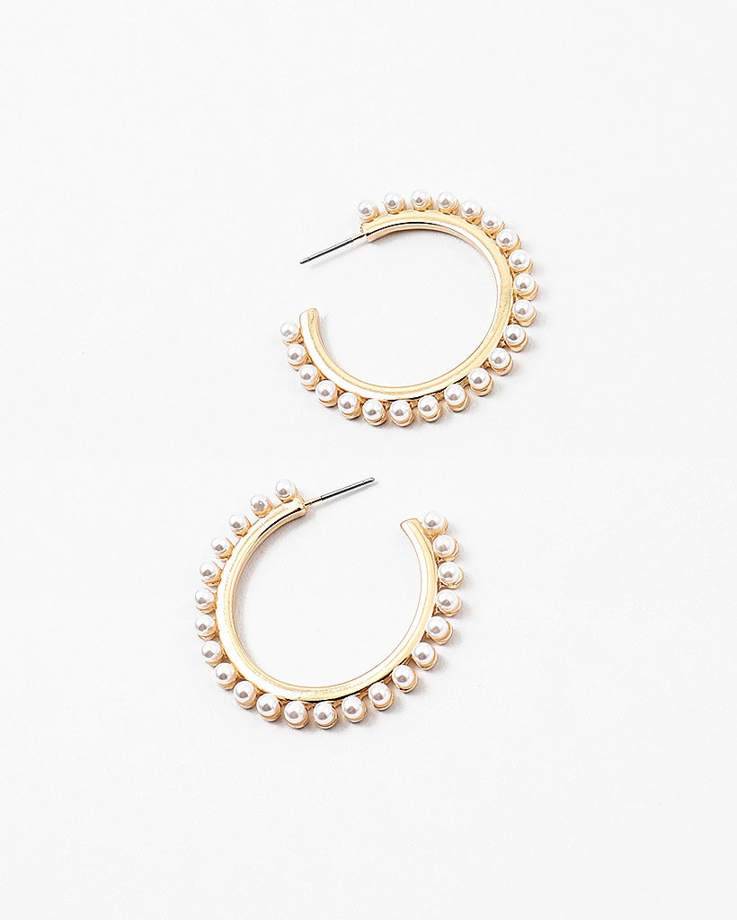 Pearl Encrusted Hoops