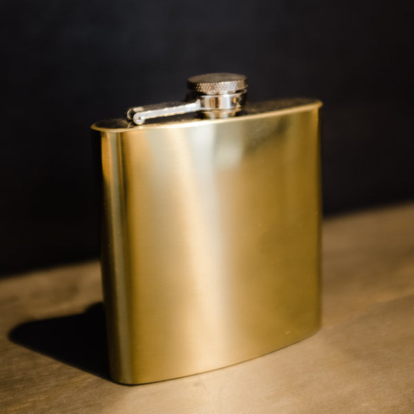 Polished brass flask