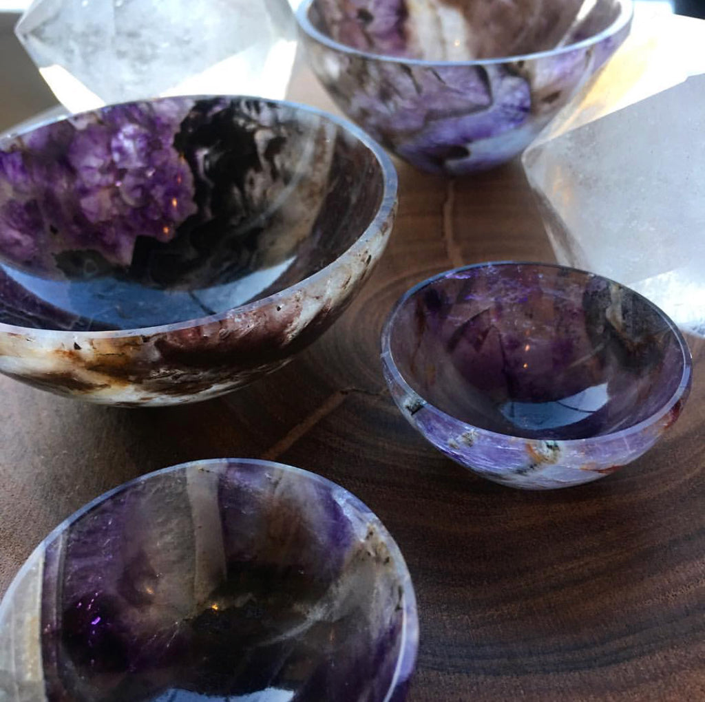 Hand Carved Amethyst Bowls