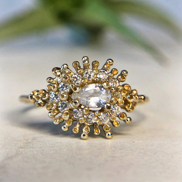 White Pear Ring