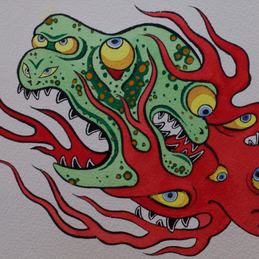 """Fire Yokai"" Original Painting"