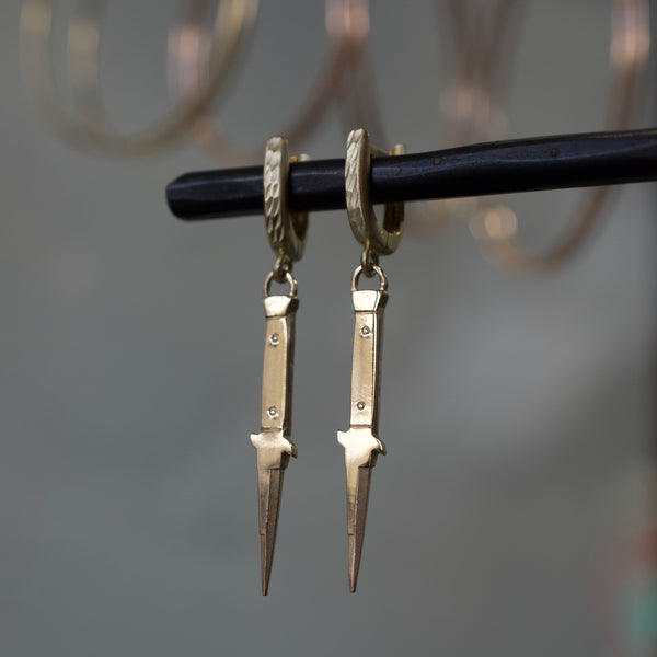 14k Cutty Earring
