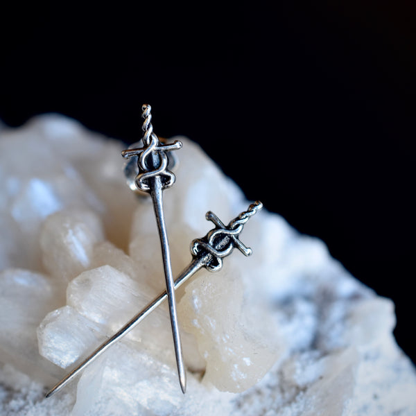 """Aloisia"" sword earrings"