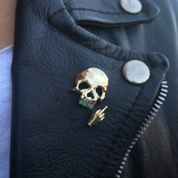 Dust to Dust Opal Teeth Pin