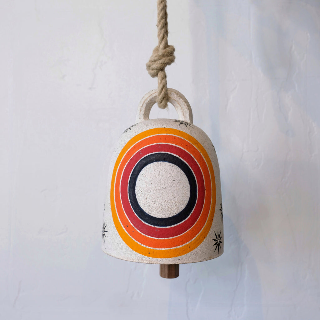 Medium Round Thrown Bell Rainbow Rings