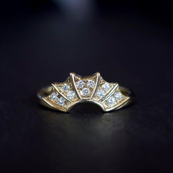 Diamond Pave Batwing Ring