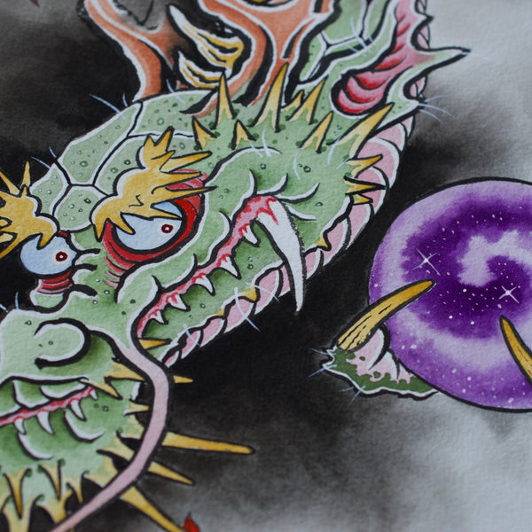 """Dragon with Pearl"" Original Painting"