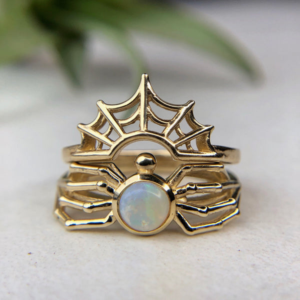 Opal Spider Ring