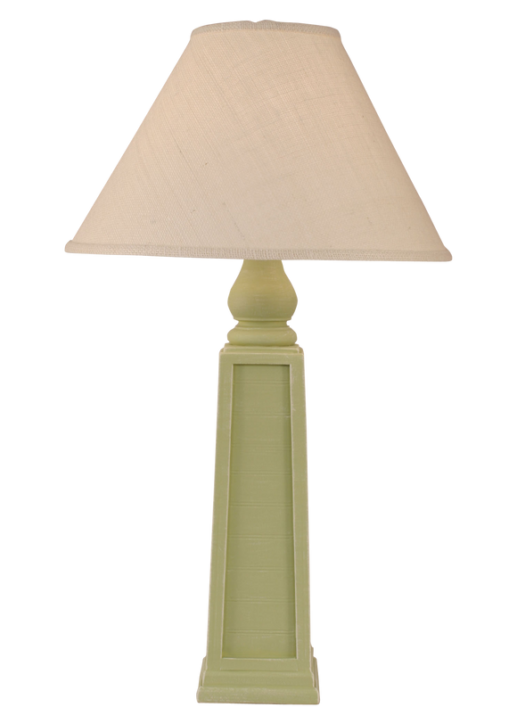 Weathered Seagrass Pyramid Table Lamp - Coast Lamp Shop