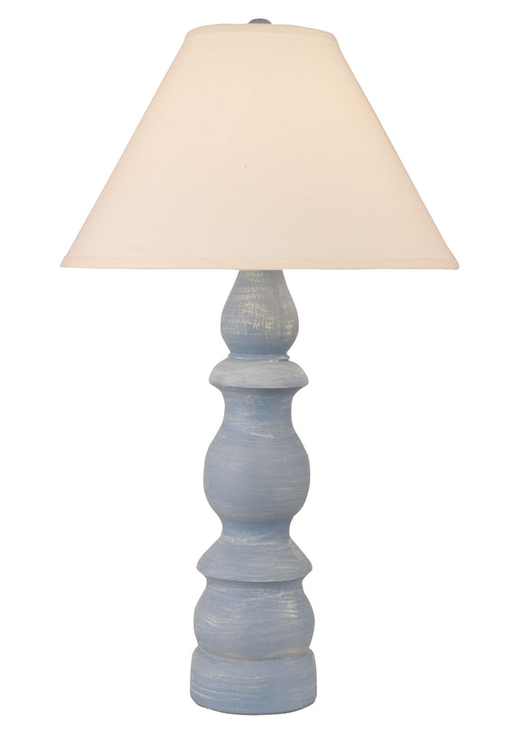 Weathered Wedgewood Blue Farmhouse Table Lamp - Coast Lamp Shop