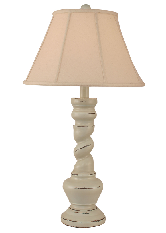 Distressed Summer Sorbet Country Twist Table Lamp - Coast Lamp Shop