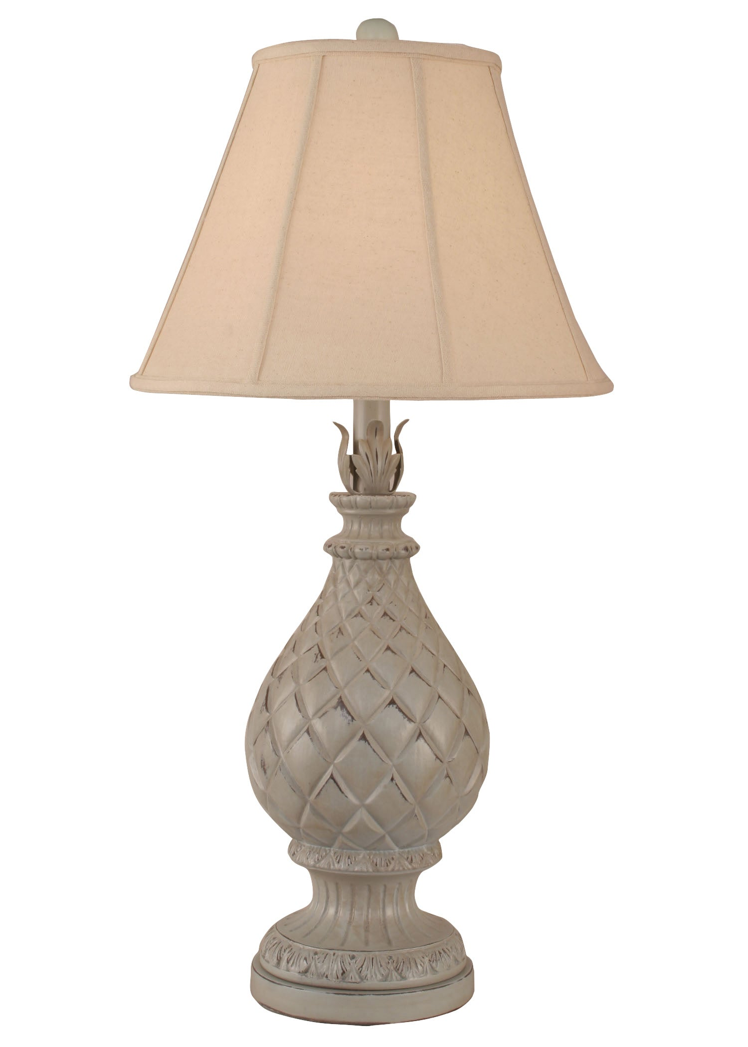 Distressed Seaside Villa Regal Pineapple Table Lamp - Coast Lamp Shop