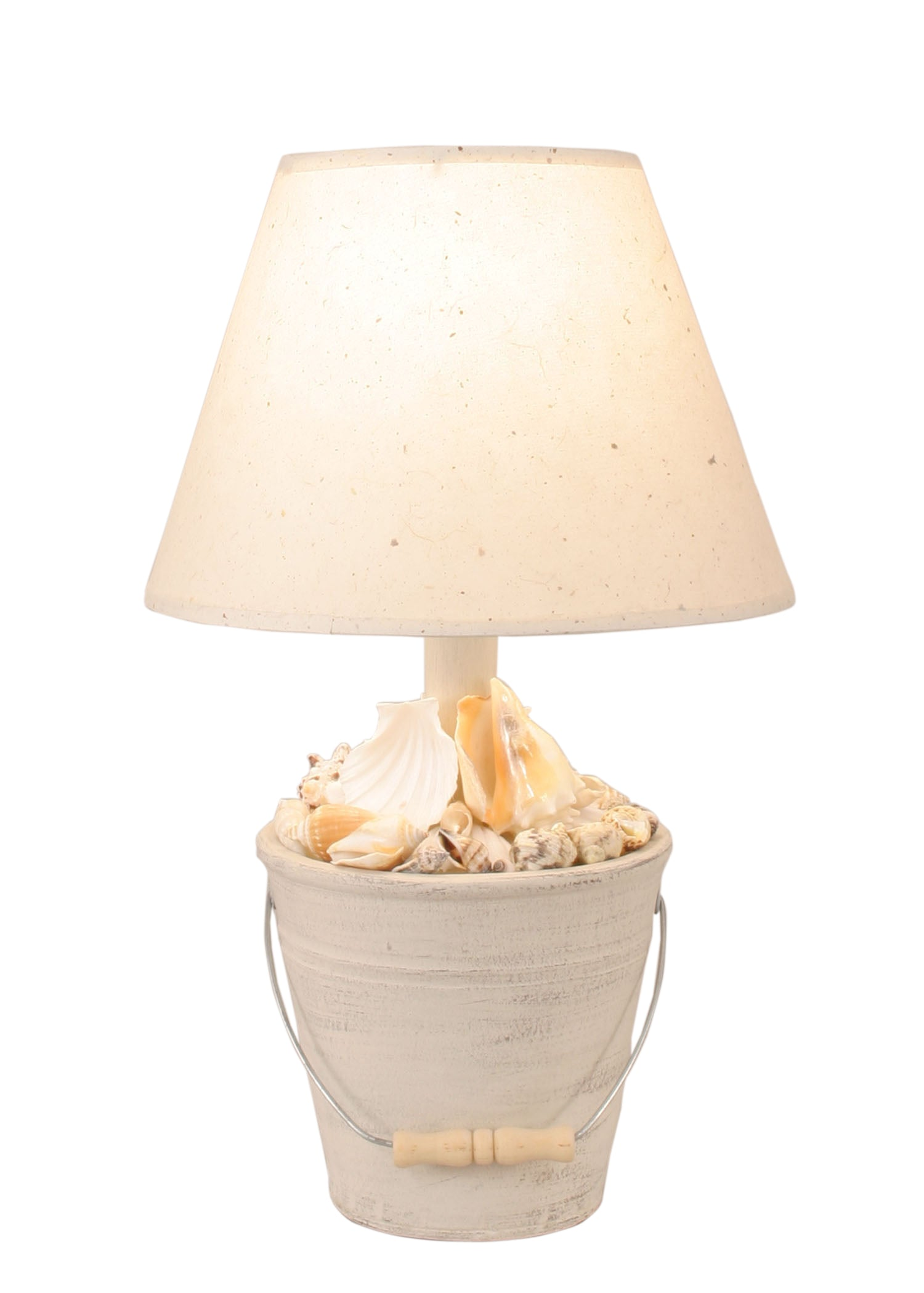 Cottage Mini Bucket of Shells Accent Lamp - Coast Lamp Shop