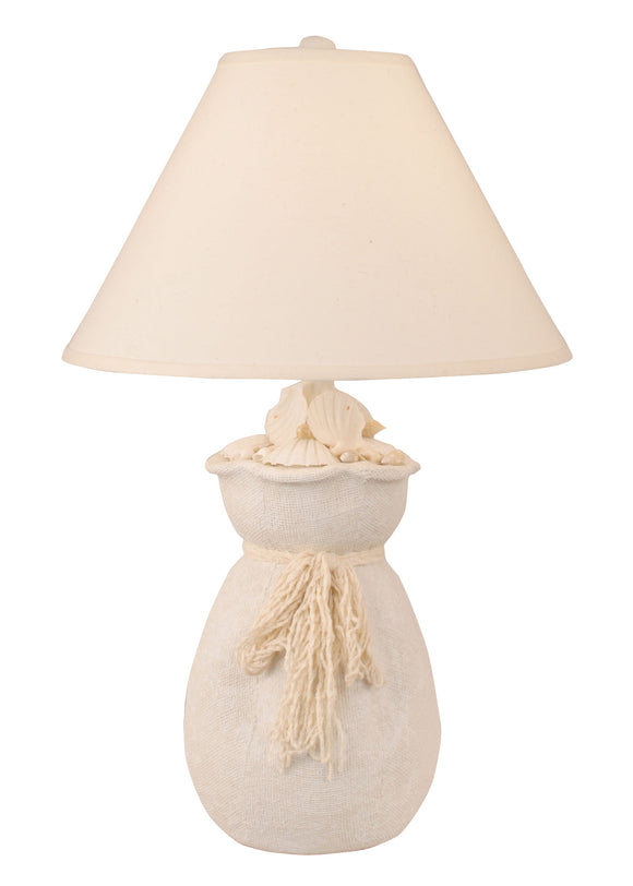 Nude Bag of Shells Table Lamp - Coast Lamp Shop