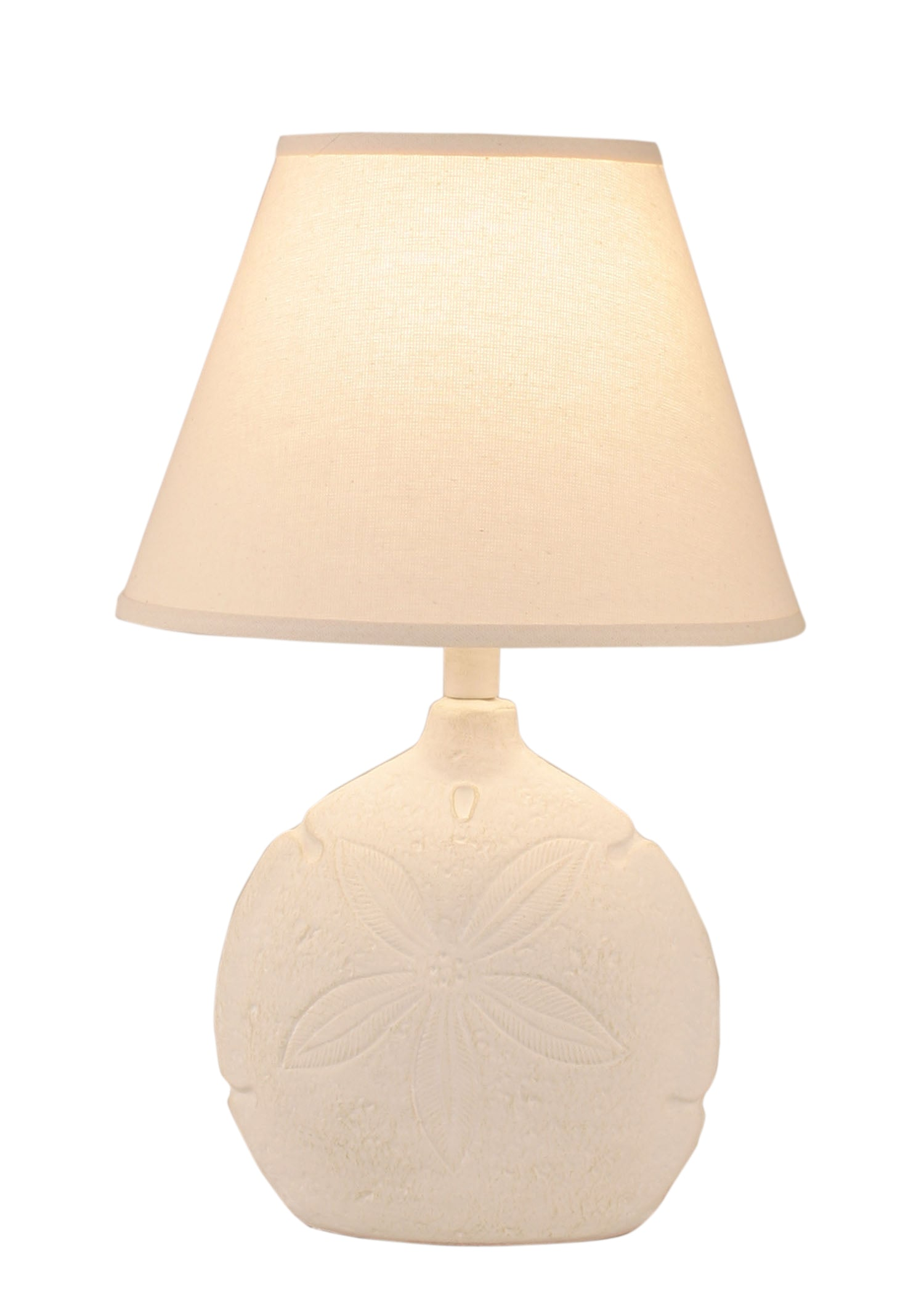 Nude Two Tone Sand Dollar Accent Lamp - Coast Lamp Shop