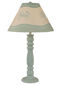 Shaded Cove Swirl Table Lamp w/ Crab Shade - Coast Lamp Shop