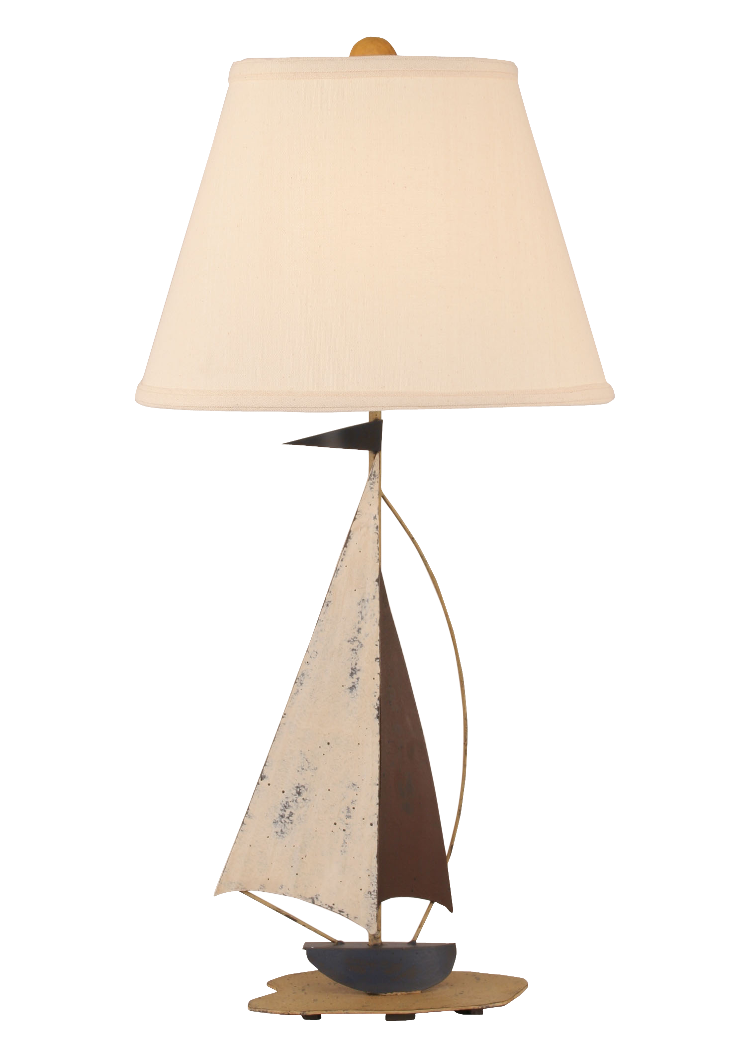 Distressed Nautical Iron Sailboat Table Lamp - Coast Lamp Shop