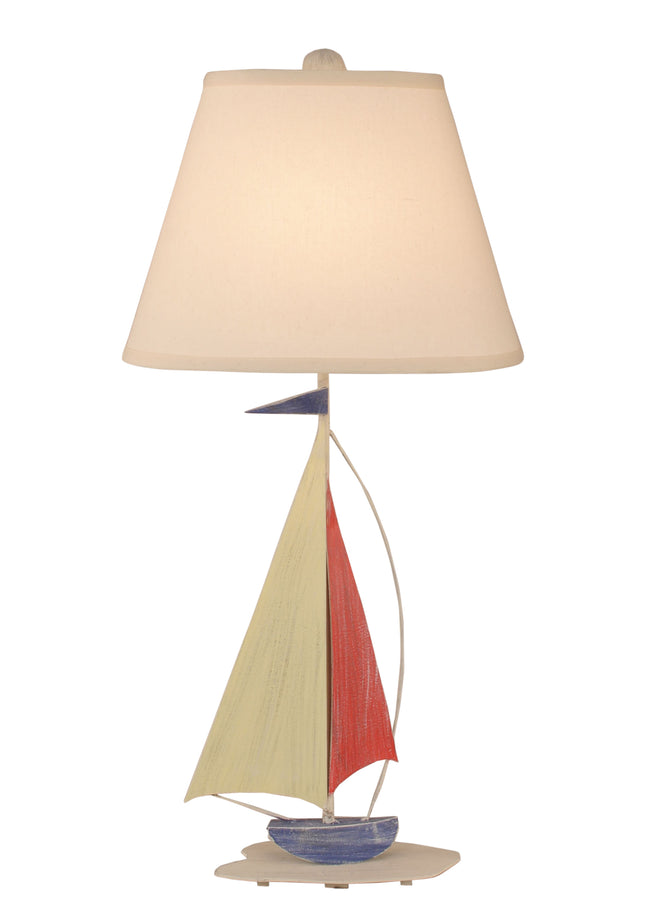 Cottage/Primary Iron Sailboat Table Lamp - Coast Lamp Shop