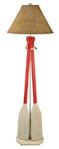 Cottage/Classic Red 2 Paddle w/ Rope Floor Lamp - Coast Lamp Shop