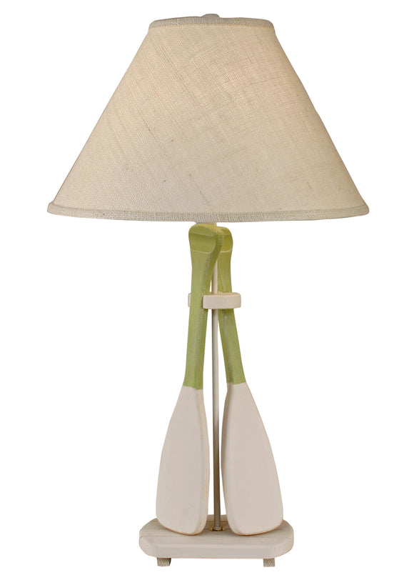 Nude/Seagrass 2 Paddle Table Lamp - Coast Lamp Shop