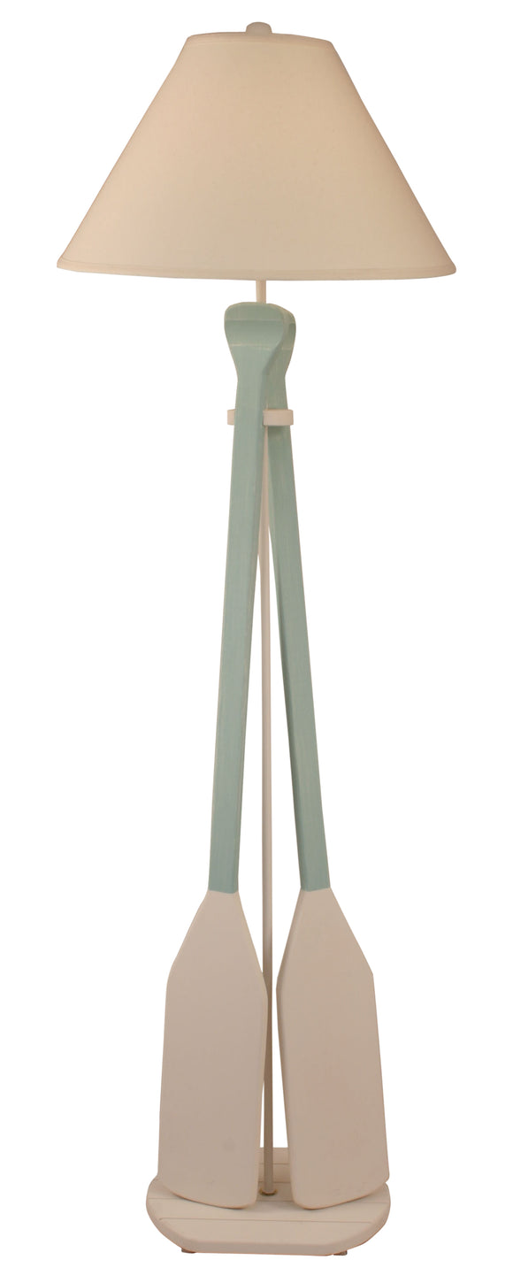 Nude/Shaded Cove 2-Paddle Floor Lamp - Coast Lamp Shop