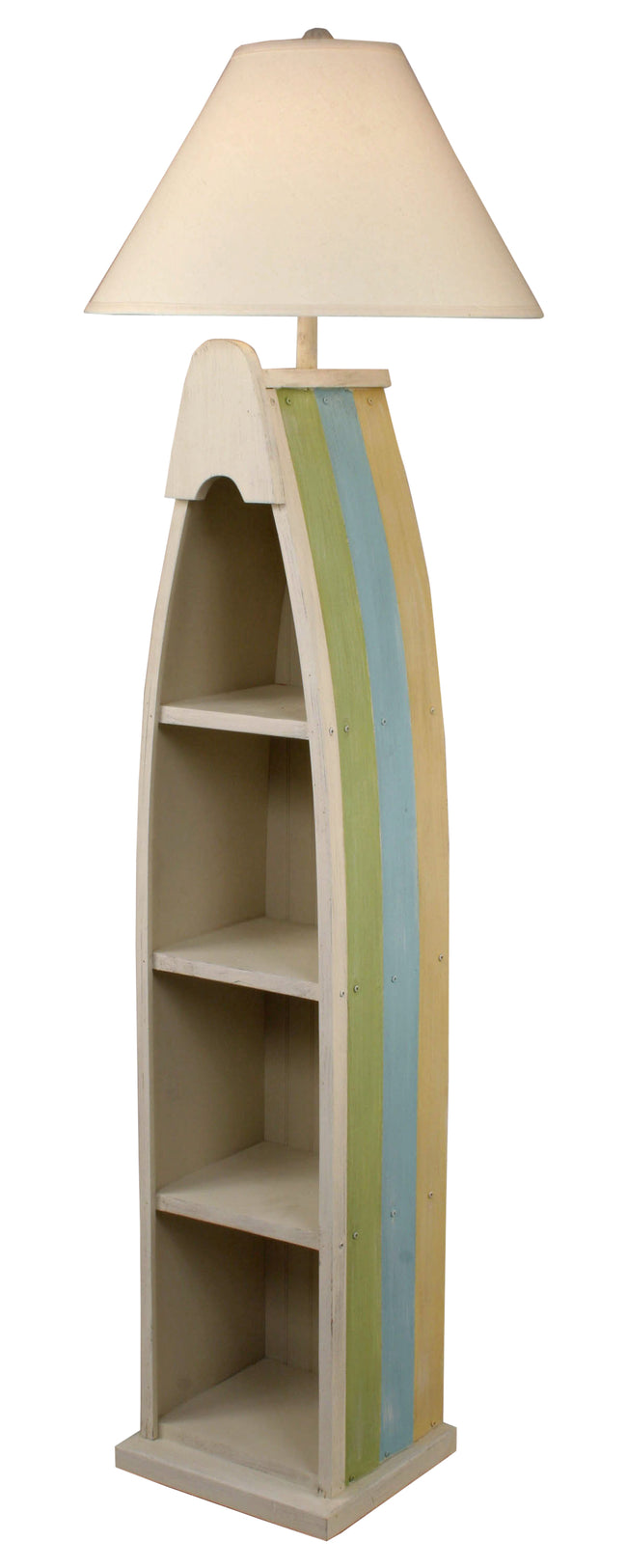Multi Cottage Stripe Boat Floor Lamp - Coast Lamp Shop