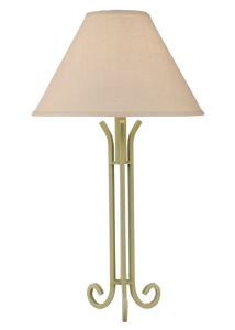 Weathered Seagrass Iron 3 Footed Table Lamp - Coast Lamp Shop