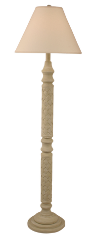 Distressed Cottage Ribbed Floor Lamp