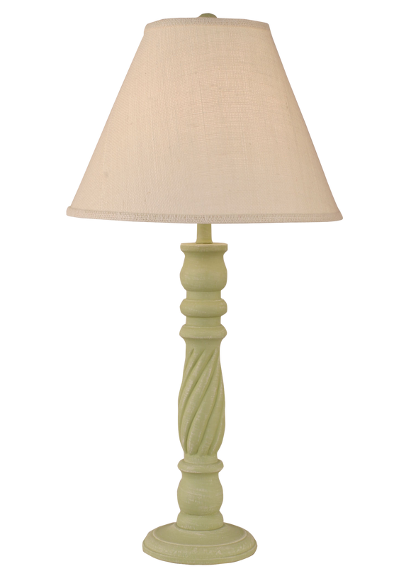 Weathered Seagrass Swirl Table Lamp - Coast Lamp Shop