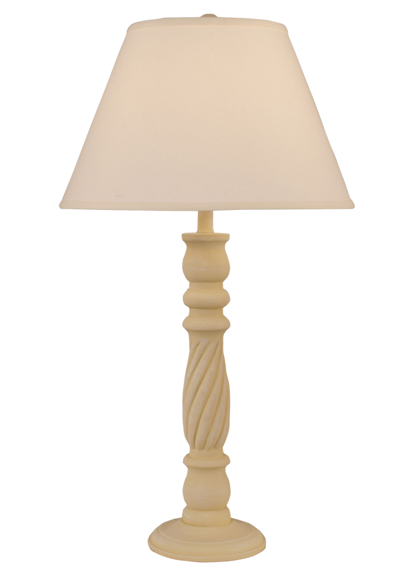 Weathered Golden Rod Swirl Table Lamp - Coast Lamp Shop