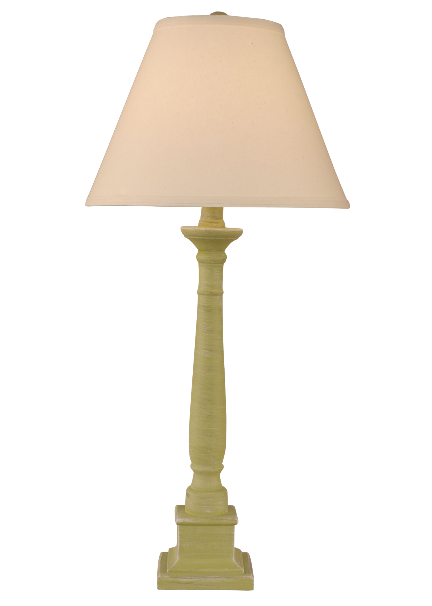 Cottaged Lime Square Candlestick Table Lamp   Coast Lamp Shop