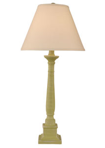 Cottaged Lime Square Candlestick Table Lamp - Coast Lamp Shop