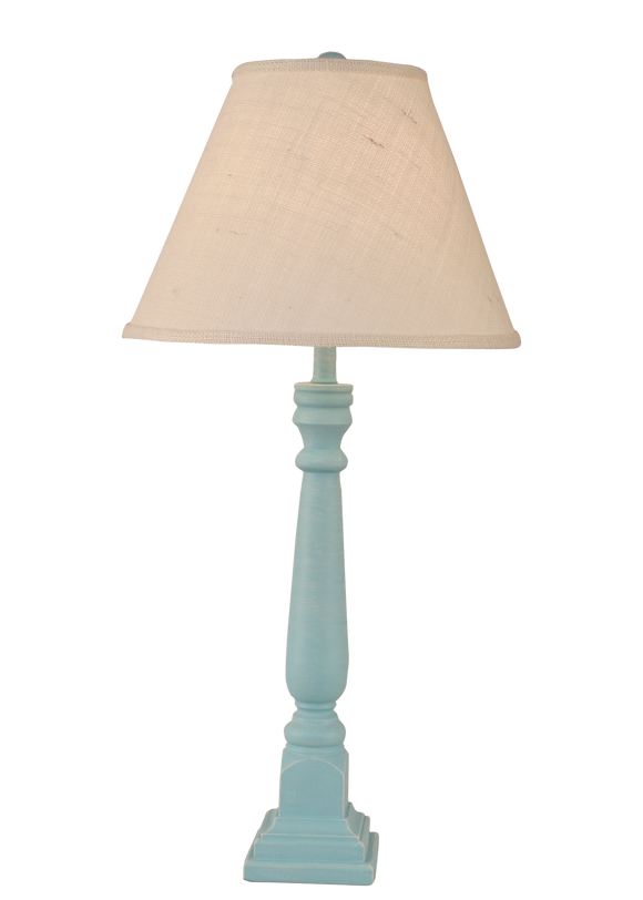 Weathered Turquoise Sea Square Buffet Lamp - Coast Lamp Shop