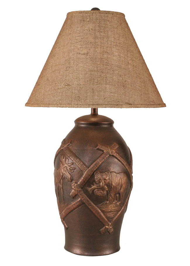 Bronze Wildlife Table Lamp - Coast Lamp Shop