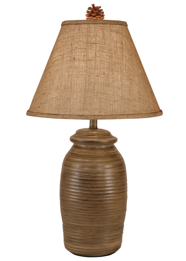 Aspen Small Ginger Jar w/ Real Pine Cone Accent - Coast Lamp Shop