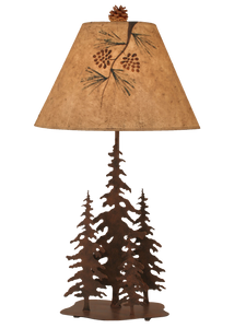 Rust 4 Tree Table Lamp - Coast Lamp Shop