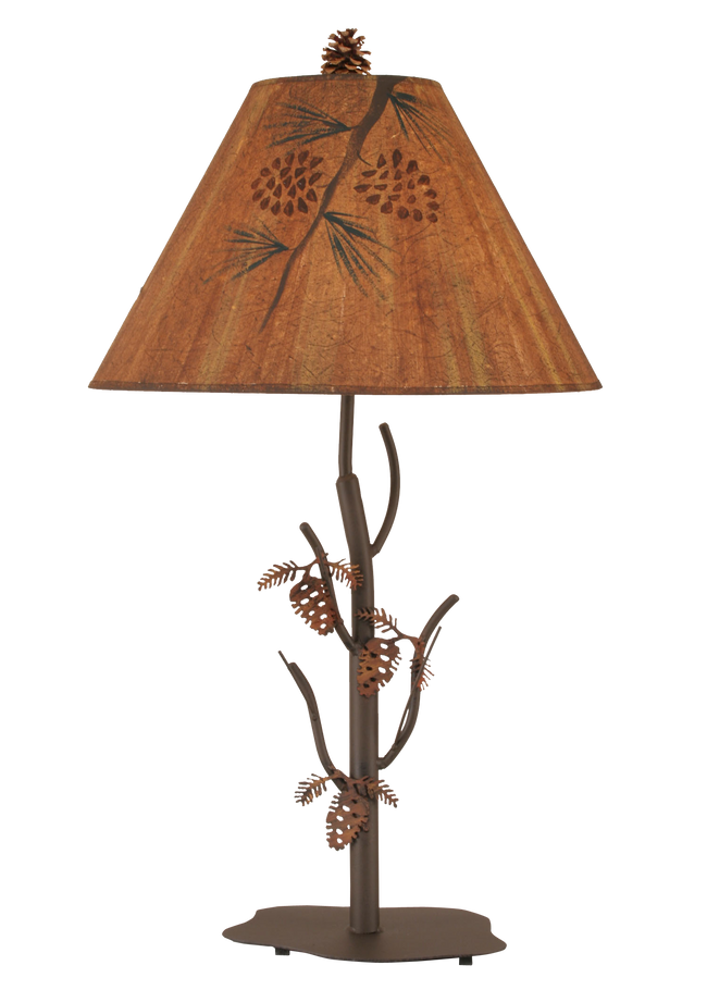 Charred Iron Pine Tree Table Lamp - Coast Lamp Shop