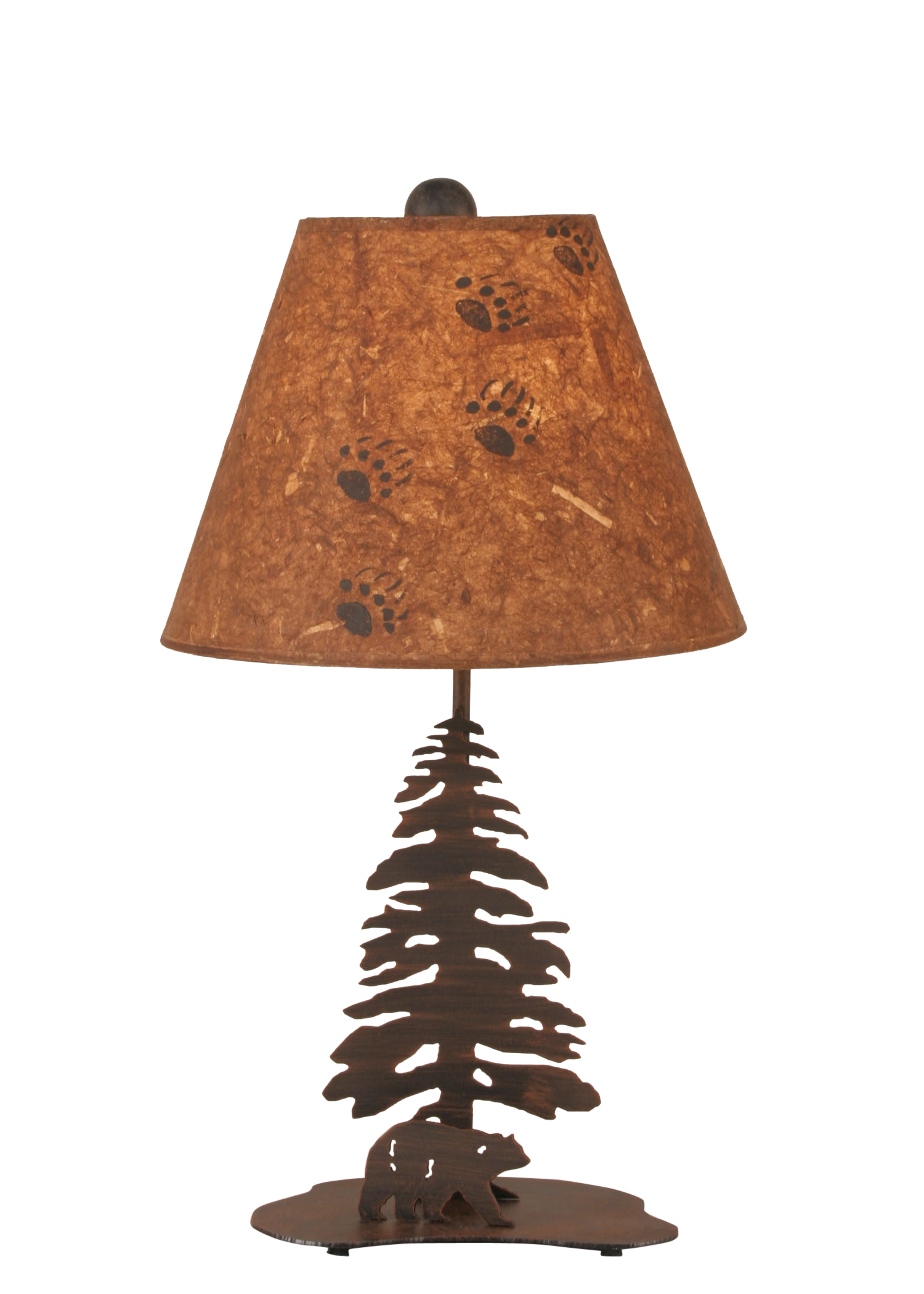 Burnt Sienna Tree and Bear Accent Lamp - Coast Lamp Shop
