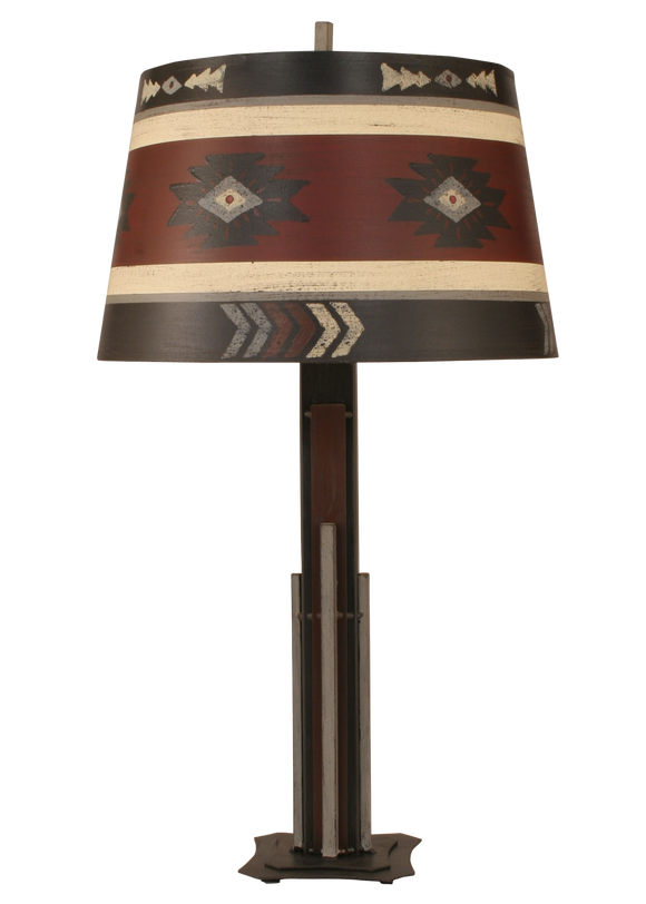 Cheyenne Iron Rod Table Lamp - Coast Lamp Shop