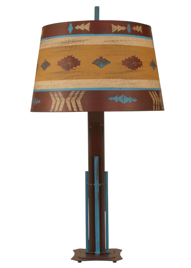 South Western Iron Rod Table Lamp - Coast Lamp Shop