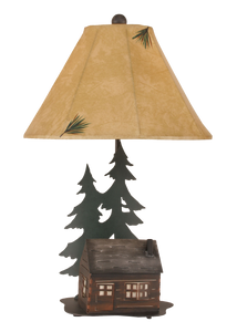 Outland Cabin Table Lamp w/ Night Light - Coast Lamp Shop