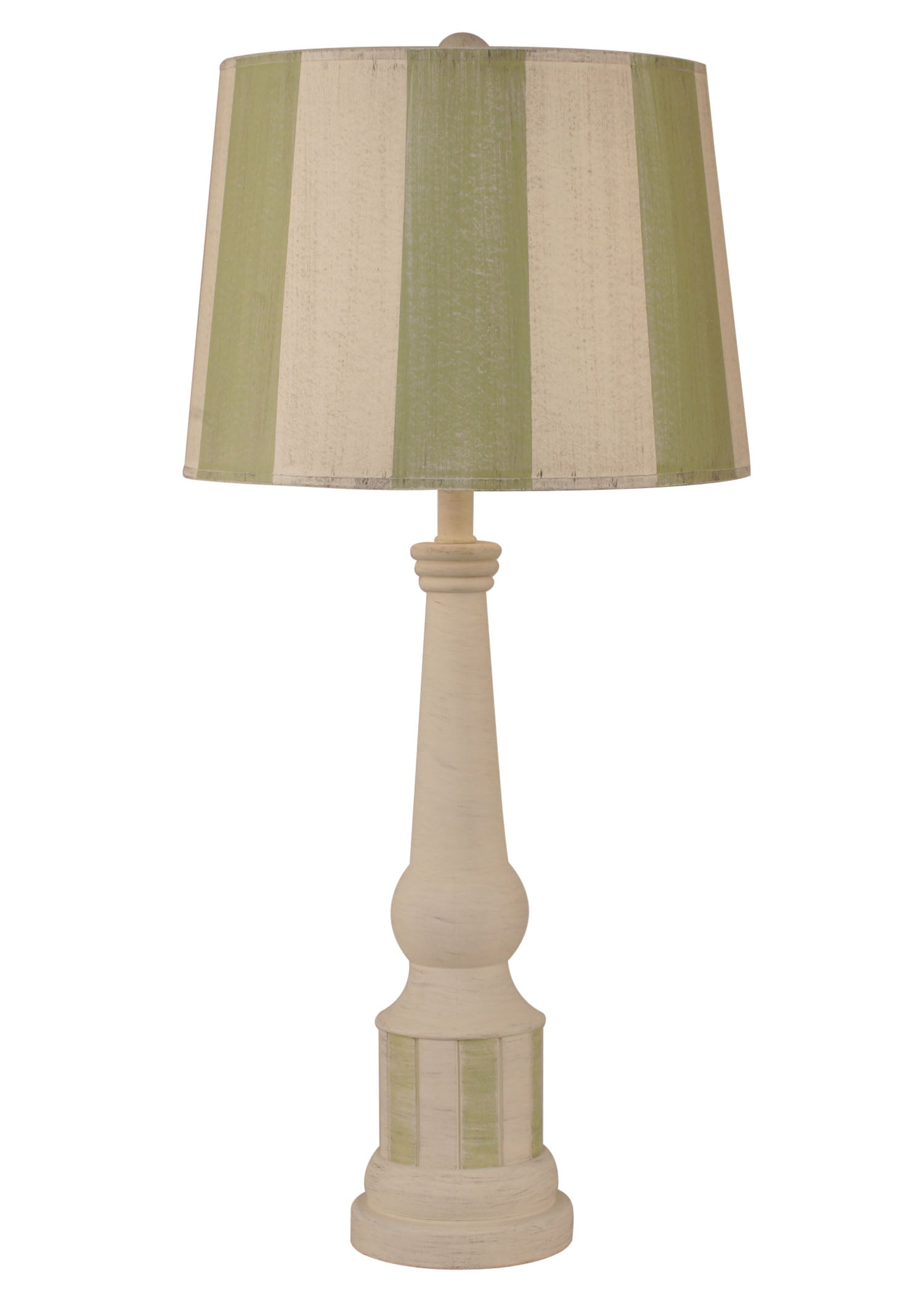Cottage/Seagrass Striped Pedestal Table Lamp - Coast Lamp Shop