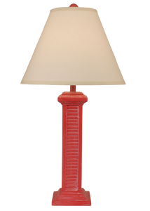Classic Red Wash Tall Shutter Table Lamp - Coast Lamp Shop